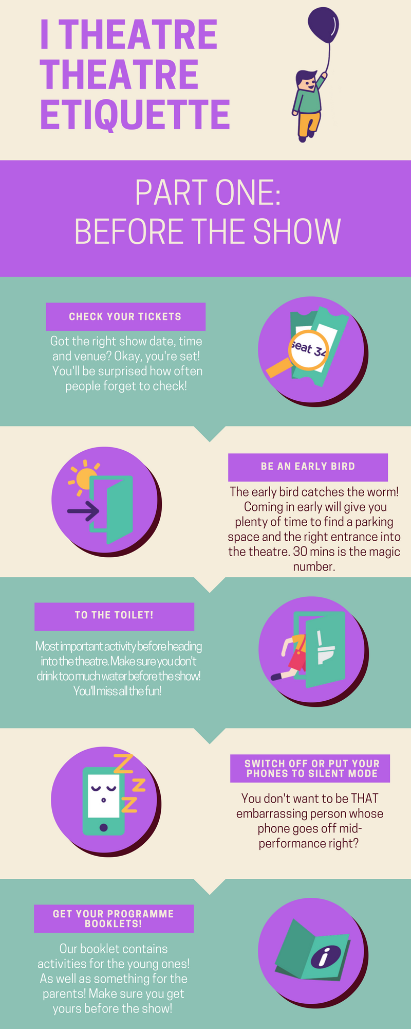Theatre etiquette Before the show